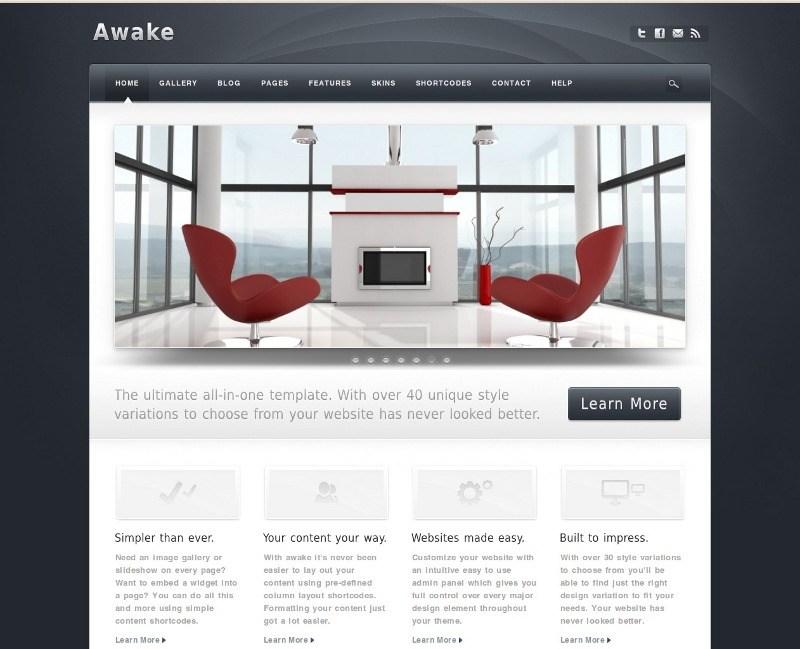 Web para catálogos – Awake Theme