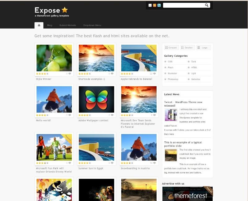 Web para catálogos – Expose theme