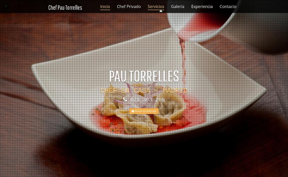 Web para Cheff – Pau Torrelles