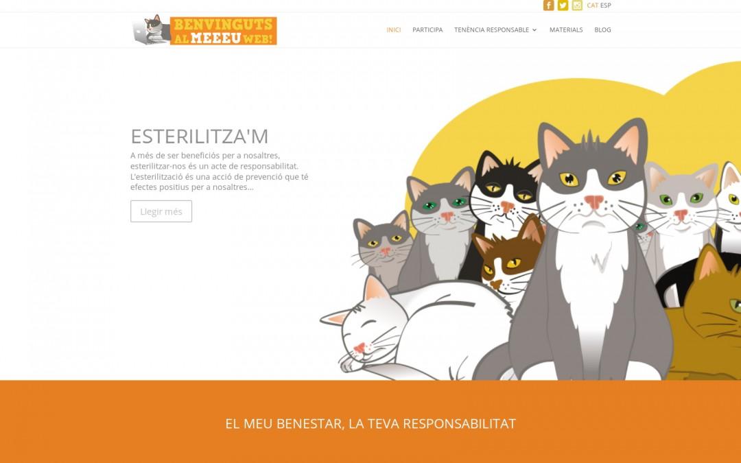 Web bilingüe para protectora de gatos