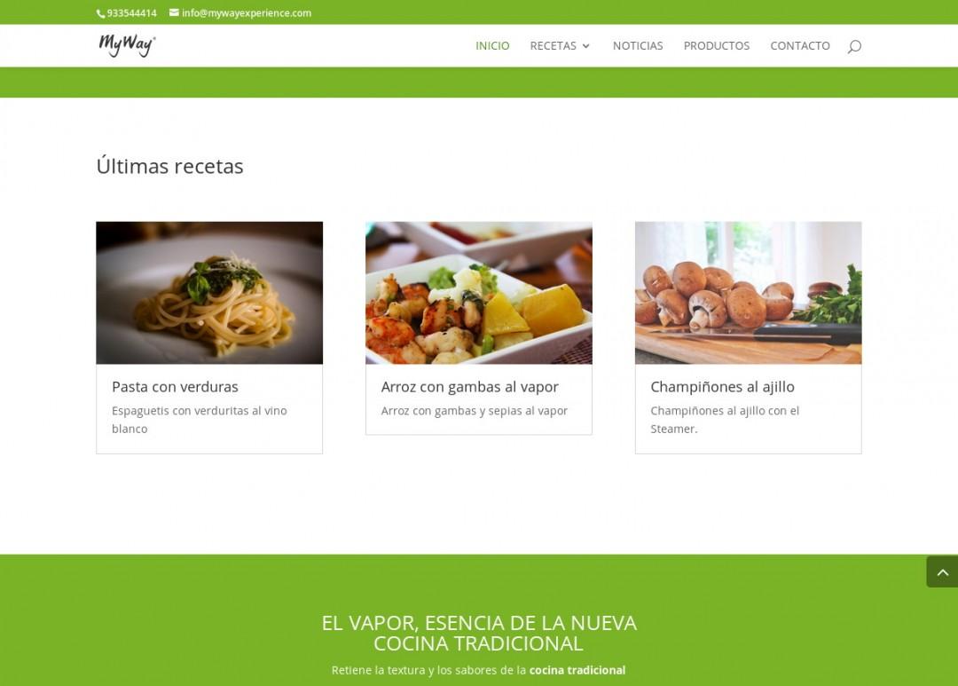 Web de productos de cocina Myway