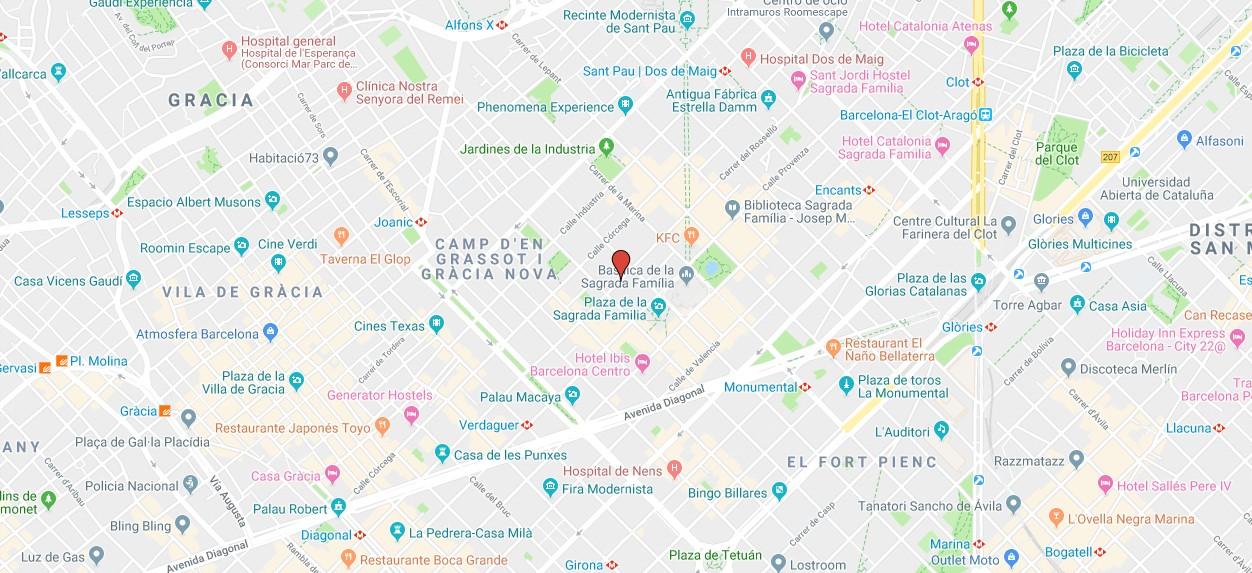 Mapa con la localización de Scopia